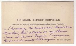 2) Carte De Visite Autographe Non Signée Du Colonel Pierre Hugot-Derville Au Peintre André Maillos - Autographes