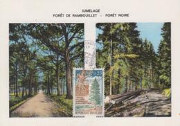 Carte  Maximum  1er  Jour    Jumelage  Forêt  De  Rambouillet  -  Forêt  Noire   1968 - Maximumkarten