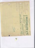 Une Facture : Michelin & Cie     Année 1932 - Cars
