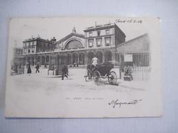 CPA PARIS Gare De L'Est 1903 T.B.E. - Otros