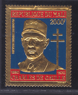 MALI AERIENS N°  114 ** MNH Neuf Sans Charnière, TB (D4900) De Gaulle, Timbre Sur Feuille Or - Malí (1959-...)