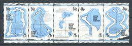 216 OCEAN INDIEN 1994 - Yvert 145/49 - Cartes Territoires - Neuf ** (MNH) Sans Charniere - Territoire Britannique De L'Océan Indien