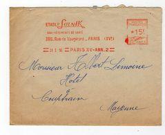 Jan18    81026  Enveloppe     Ets Solnik    Paris - Poststempel (Briefe)