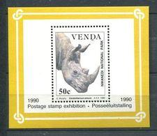 216 VENDA 1990 - Yvert BF 6 - Rhinoceros - Neuf ** (MNH) Sans Charniere - Venda