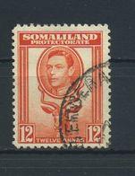 SOMALILAND  PROTECTORATE    1938    12a  Red  Orange    USED - Somaliland (Herrschaft ...-1959)