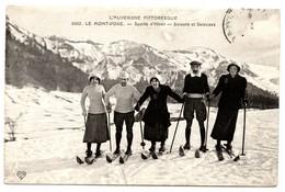 (63) LE MONT DORE :L'Auvergne Pittoresque Sport D'hiver Skieurs Et Skieuses - Le Mont Dore