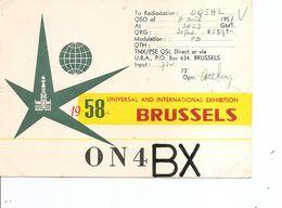 Exposition De Bruxelles -1958 ( Carte De Station Radio Illustrée à Voir) - 1958 – Brussels (Belgium)