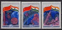 USSR Yvert 5088-90  – MNH  (1984) – Intercosmos USSR - India - 1923-1991 URSS