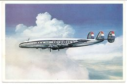 Avion Avec Hélices LOCKHEED SUPER CONSTELLATION L 1049 G En Vol . - 1946-....: Moderne