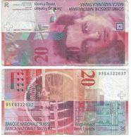 Suíza - Switzerland 20 Francs 1995 Pick 68-b-2 Ref 1431 - Suisse
