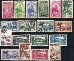 MOROCCO 1939 Views 18 Values Mint - Marokko (1891-1956)