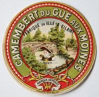 CAMEMBERT Du Gué Aux Moines - Ille & Vilaine - Etiquette Ancienne /E244 - Cheese