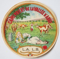 CAMEMBERT De La VALLEE D'AUGE - L.A. L.B.  - Etiquette Ancienne /E245 - Cheese