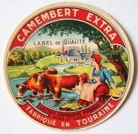 CAMEMBERT EXTRA - Laiterie Coopérative D'Orbigny (Indre Et Loire) - Fabriqué En Touraine - Etiquette Ancienne /E245 - Cheese