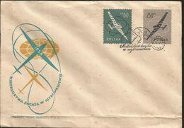J) 1958 POLAND, CHRISTIAN CHAMPIONSHIP IN WINDOWS, AIRPLANE, FDC - 1944-.... Republic