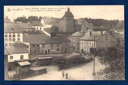 Houffalize. Hospice Wilmotte. La Gare, Wagons De Marchandises. Hôtel De L'Ourthe. Café-Restaurant. 1923 - Houffalize