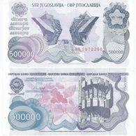 Yugoslavia 500.000 Dinara 1989 Pick 98.a Ref 1434 - Yugoslavia
