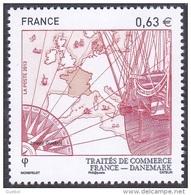 France N° 4817.** France/Danemark - Le 0.63 Rouge - France