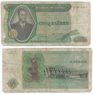 Zaire 5 Zaires 1972 Pick 20.a Ref 1400 - Zaire