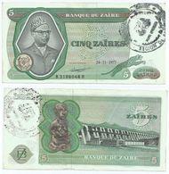 Zaire 5 Zaires 1977, Resello Bandundu Pick R3.c Ref 1407 - Zaire