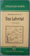 Topographische Karte / Wanderkarte  -  Das Lahntal  -  Von Stollfuss - Ca. 59 X 69 Cm - Ca. 1955 - Topographische Karten