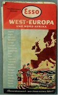 Esso Strassenkarte West-Europa Und Nord-Afrika  - Ca. 62 X 74 Cm - Ca. 1958 - Strassenkarten