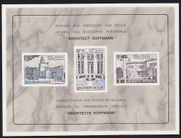 Belgium (1965) Buildings Of Joseph Hoffmann. Deluxe Proof (LX46) Of 3 Values.  Scott Nos B776-8, Yvert Nos 1337-9.  Art - Feuillets De Luxe