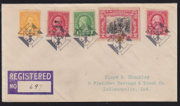 U.S.A. (1930) Knights Of Columbus Emblem. Fancy Cancel From Ed, Kentucky.  Five Strikes In Black On Registered Cover. - Christentum