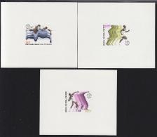 Chad (1973) High Jump. Runner. Shot Put. Set Of 3 Gummed Deluxe Sheets.  Scott Nos 289-91, Yvert Nos 283-5. - Ciad (1960-...)