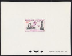 Dahomey (1965) Baudot Telegraph Distributor. Ader Telephone. Deluxe Sheet.  Scott No 202, Yvert No 222. ITU Centenary. - Benin - Dahomey (1960-...)