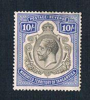 Tanganyika, GVR, 1928, 10/=, MH *, Thin - Tanganyika (...-1932)