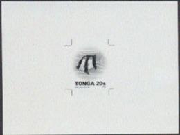 Tonga (1993) Damselfish. Monochrome Proof On Card.  Scott No 803, Yvert No 920. - Tonga (1970-...)