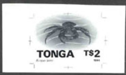 Tonga (1994) Coconut Crab. Monochrome Proof On Card.  Scott No 881. - Crostacei