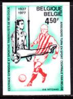 Belgium (1977) Gymnast. Soccer Player. Imperforate.  Scott No 994, Yvert No 1858. - Belgio