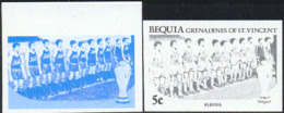 Bequia (1986) Algerian Soccer Team. Set Of 7 Progressive Color Proofs.  Scott No 220. - World Cup