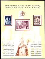 Belgium (1952) Consecration Of Cardinal Van Roey. Compound Deluxe Proof (LX12) Of 3 Values.  Scott Nos B511-3, Yvert Nos - Luxusblätter