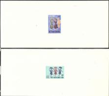 Vietnam (1971) Native Dancers. Set Of 4 Deluxe Sheets.  Scott Nos 385-8, Yvert Nos 390-3. - Vietnam