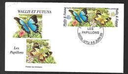 Wallis Et Futuna  Les Papillons Fdc 2005 - Covers & Documents