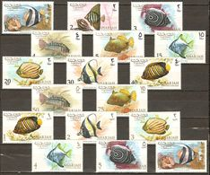 Sharjah , Khor Fakkan 1966 Fishes 17v MNH** - Khor Fakkan