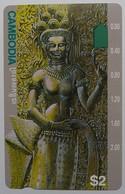 CAMBODIA - Telstra - $2 - Anritsu - Statue - Mint - Cambodia