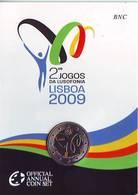 Officiel BU KMS 2009 2 Euro Jogos Da Lusofonia Lisboa Coincard BNC Portugal Португалия Portogallo Πορτογαλία Portugalsko - Portugal