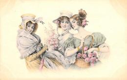 [DC11416] CPA - DONNE CON FIORI - PERFETTA - Non Viaggiata - Old Postcard - Illustratori & Fotografie