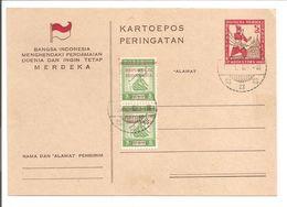 Kartoepos JK4 150x114. Stamps 2x J11. 16.1.46 ?! - Niederländisch-Indien