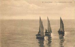 D1085 Littoral Belge 1919 Pecheurs De Crevettes Au Large - Belgique