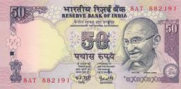 INDIA -  2005  , 50 RUPEES    Mahatma Gandhi , Parlamentsgebäude   - Bankfrisch - Indien