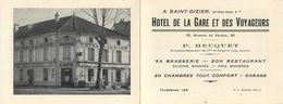 D1085 Saint Dizier Hotel De La Gare Et Des Voyageurs - Saint Dizier