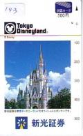 Carte Prépayée Japon * DISNEY (143)  TOKYO DISNEYLAND * JAPAN TOSHO CARD - Disney