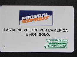 ITALIA SIP - 3283 C&C 190 GOLDEN - PRIVATE PUBBLICHE - FEDERAL EXPRESS - NUOVA - Private-Omaggi