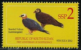 XD1150 South Sudan 2012 Bird Vulture 1V MNH - South Sudan