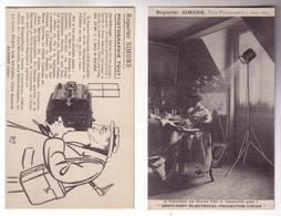Carte Publicité Du Photographe Simons Au Peintre André Maillos - Publicités